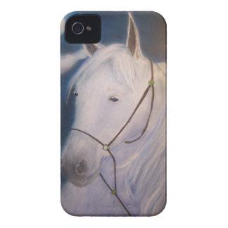 Pintura del arte del caballo iPhone 4 cárcasas