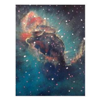 Pintura del arte del espacio de la nebulosa de postales