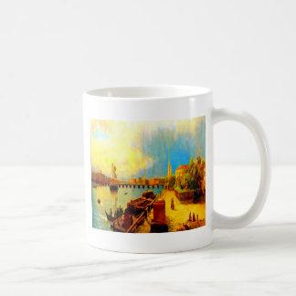Pintura del arte del lagorio del lev de la belleza taza básica blanca