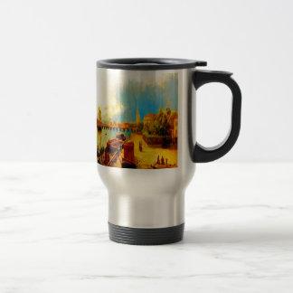 Pintura del arte del lagorio del lev de la belleza taza de viaje de acero inoxidable