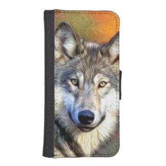 Pintura del arte del lobo carteras