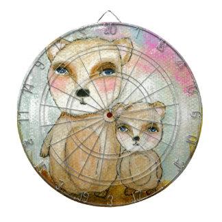 Pintura del arte del oso del arbolado del día de