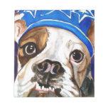 Pintura del arte del perro de la acuarela del dogo bloc de notas