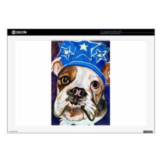 Pintura del arte del perro de la acuarela del dogo portátil 43,2cm skin