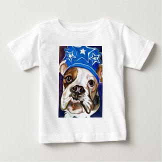 Pintura del arte del perro de la acuarela del dogo t shirt