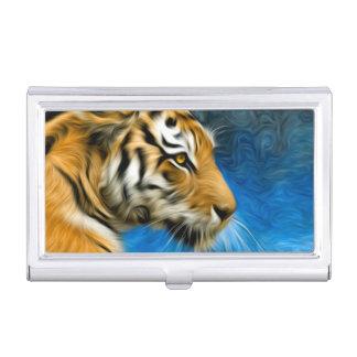 Pintura del arte del tigre cajas de tarjetas de negocios