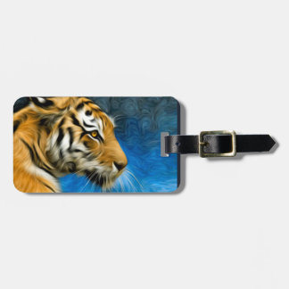 Pintura del arte del tigre etiquetas maleta