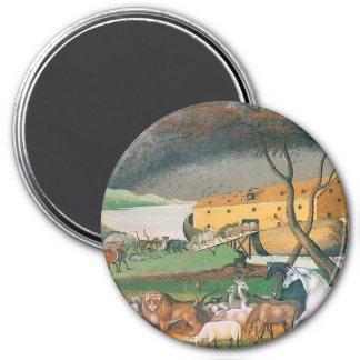 pintura del arte popular de la arca de los noahs imán redondo 7 cm