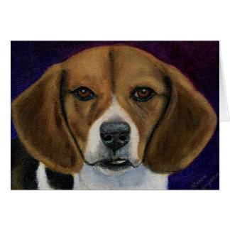 Pintura del beagle - arte de la raza del perro tarjeta de felicitación