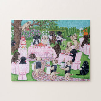 Pintura del boda de Labrador Puzzle
