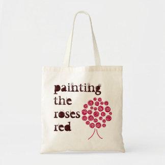 pintura del bolso que cultiva un huerto rojo de lo bolsa lienzo
