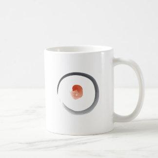 Pintura del bosquejo del zen del círculo taza de café
