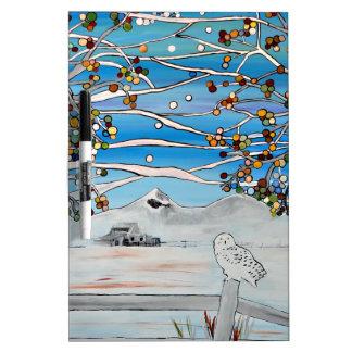 pintura del búho tablero blanco