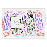 pintura del burro tarjeta de felicitación