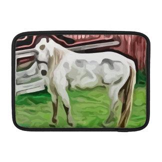 pintura del caballo blanco funda macbook air