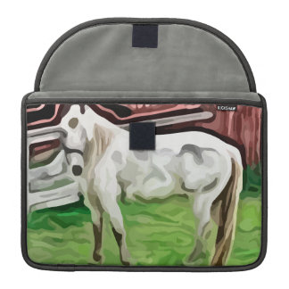pintura del caballo blanco fundas macbook pro