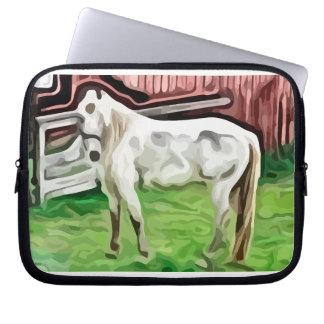 pintura del caballo blanco mangas computadora