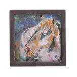 Pintura del caballo caja de joyas de calidad