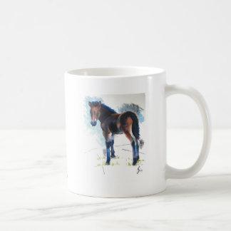 Pintura del caballo de Dartmoor del potro de los j Taza