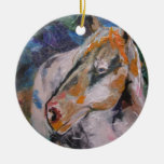 Pintura del caballo ornamentos de navidad