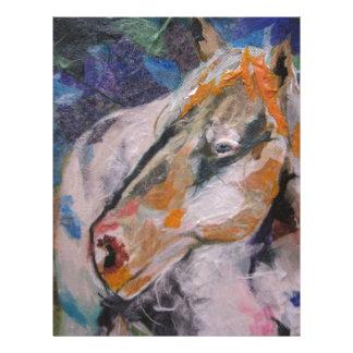 Pintura del caballo plantilla de membrete