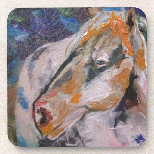Pintura del caballo posavasos de bebidas