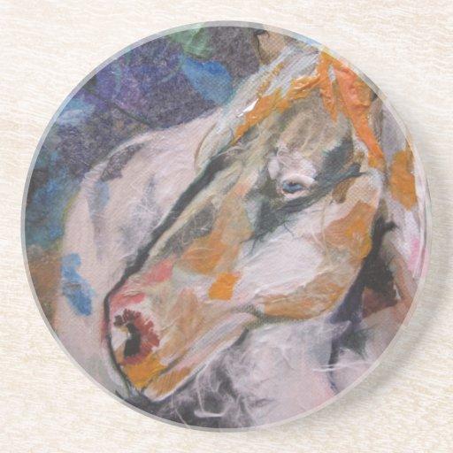 Pintura del caballo posavasos diseño