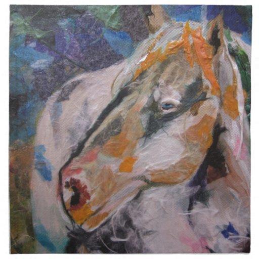 Pintura del caballo servilleta