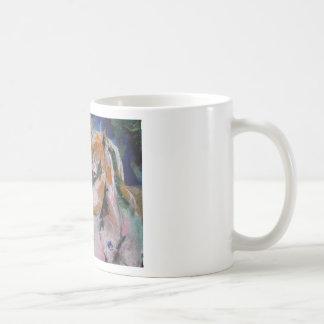 Pintura del caballo taza básica blanca