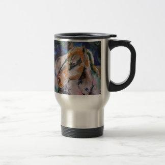 Pintura del caballo taza de viaje de acero inoxidable
