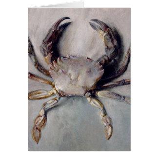 Pintura del cangrejo del vintage tarjeta de felicitación