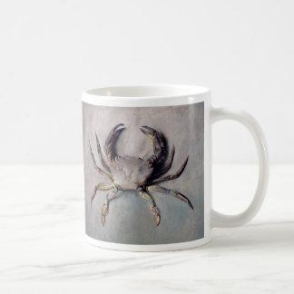 Pintura del cangrejo del vintage tazas de café
