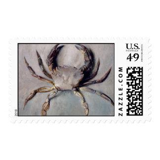 Pintura del cangrejo del vintage timbre postal