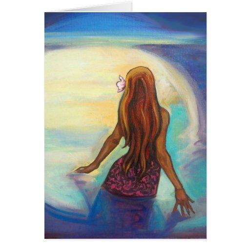 """""""Pintura del chica de Ehu"""" en tarjeta de felicitac"""
