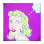 Pintura del chica del arte pop - abrigo lleno de l impresión en lona