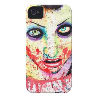 Pintura del chica del zombi del arte pop de la iPhone 4 cárcasa