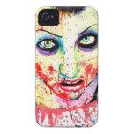 Pintura del chica del zombi del arte pop de la mut iPhone 4 cárcasa