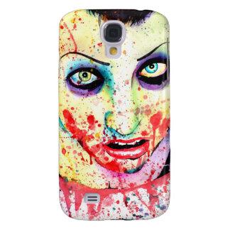 Pintura del chica del zombi del arte pop de la mut funda para galaxy s4