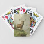 Pintura del ciervo común baraja de cartas
