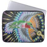 "Pintura del colibrí de Beija Flor (""Kisser de la f Funda Computadora"