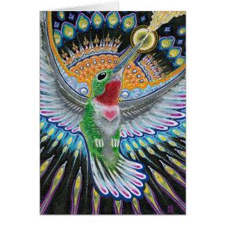 """Pintura del colibrí de Beija Flor (""""Kisser de la f Felicitaciones"""