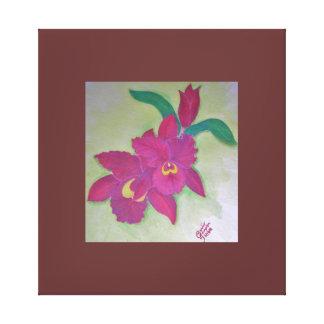 Pintura del color de agua de la orquídea de Madge  Impresión En Lona Estirada