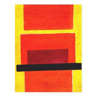 Pintura del color de Olga Rozanova Tarjeta Postal
