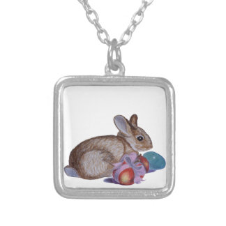Pintura del conejo y de los huevos de Pascua Joyeria
