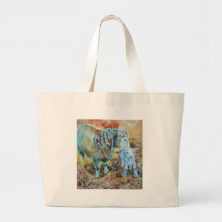 Pintura del cordero y de las ovejas bolsas de mano