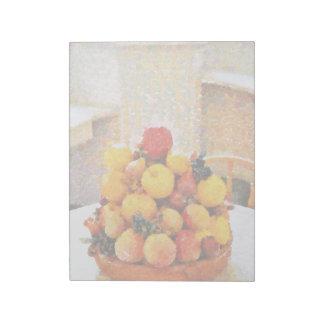 Pintura del cuenco de fruta bloc de notas