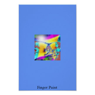 Pintura del dedo póster