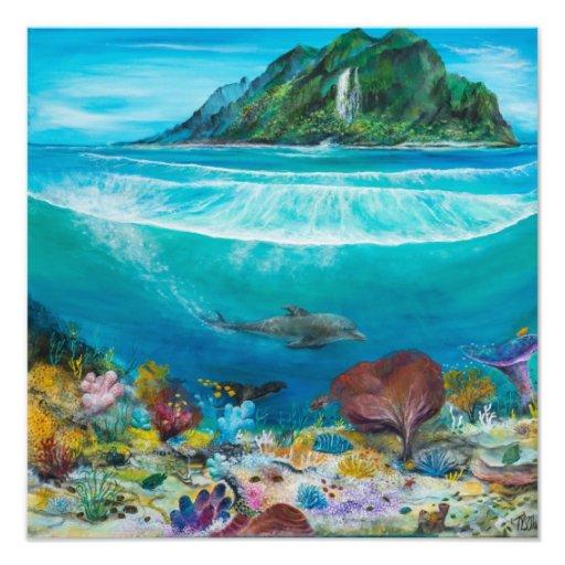 Pintura del delfín encendido fotografía