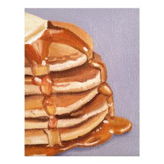 Pintura del desayuno de Shortstack de las crepes Plantilla De Membrete