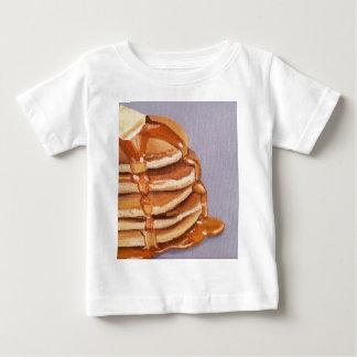 Pintura del desayuno de Shortstack de las crepes Playera De Bebé